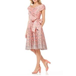 Gal Meets Glam Lillian Floral Wrapped Pink Dress